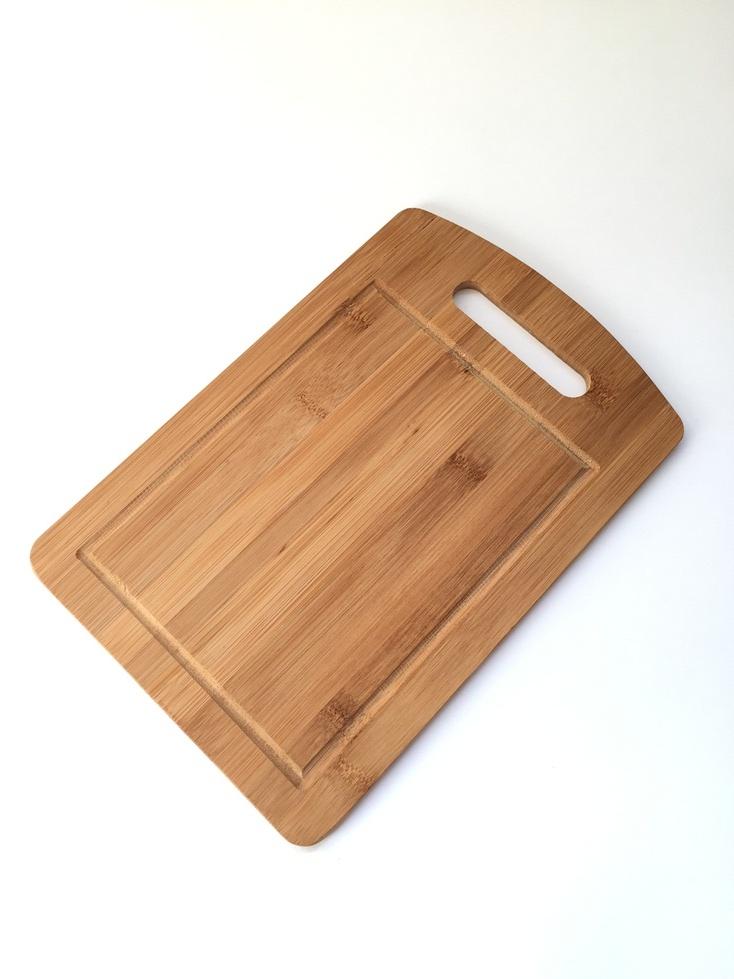 Доска бамбук разделочная прямоугольная 30*20*1см