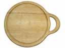 Доска разделочная кругл. с желобком 28х34х1,6 см